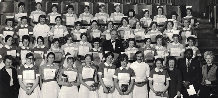Student nurses from the Preliminary Training School of 1968