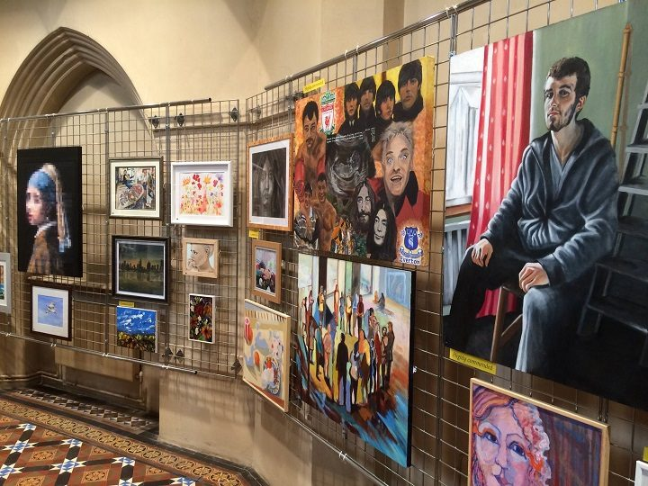 Some of the artwork on display at the Brownedge Festival