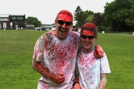 Enjoying last year's colour dash