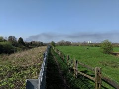 The smoke plume could be seen for miles