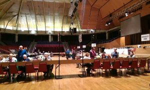 Inside the Guild Hall for the 2018 local elections count