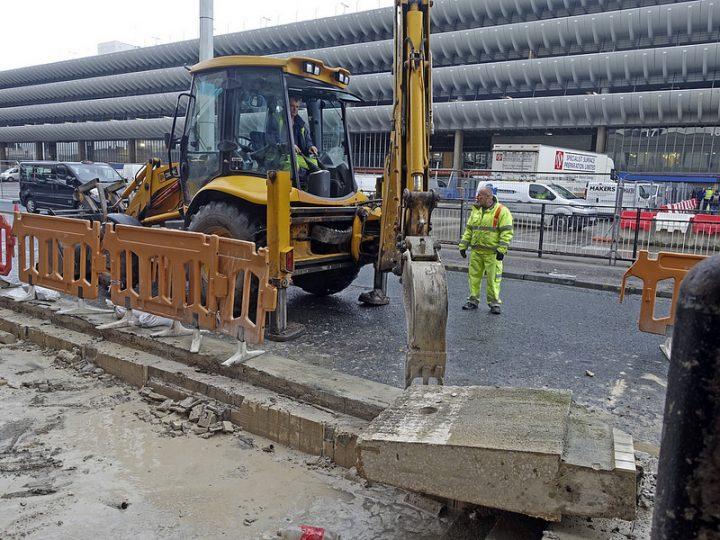 Work in Tithebarn Street near Preston Bus Station Pic: 70023venus2009