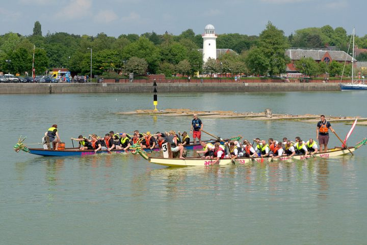 Dragon boat racing in Preston Marina Pic: Tony Worrall