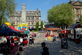 Sun shines on a Flag Market event Pic: Tony Worrall