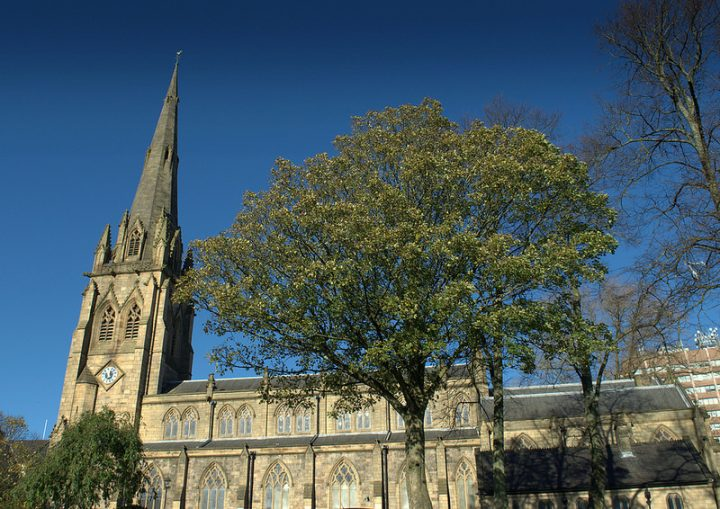 Police were near Preston Minster on Tuesday evening Pic: Tony Worrall