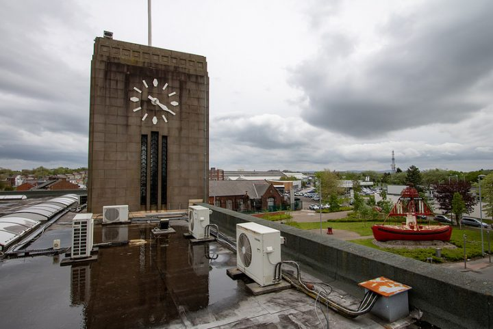On the roof of the former Docks offices Pic: ScrappyNW