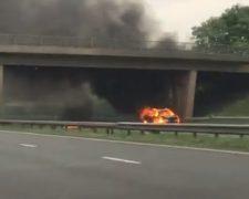 The fire on the M61 near Rivington Services Pic: Alex Nicole-Bibby