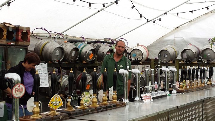 The bar at the Cuerden beer festival