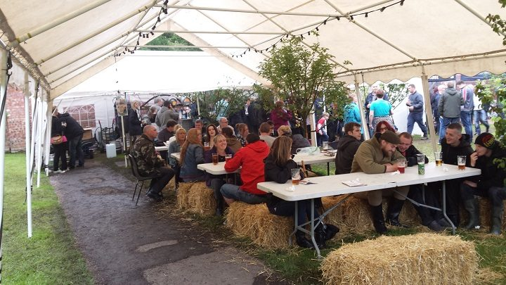 Inside the Cuerden Valley beer festival