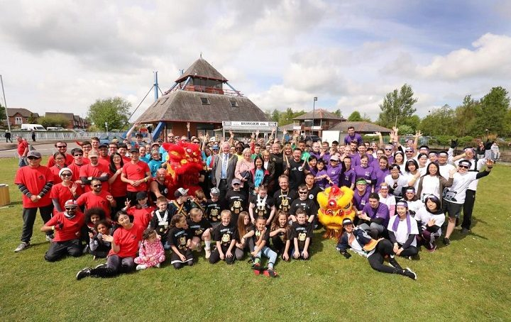 All those who took part in the dragon boat racing