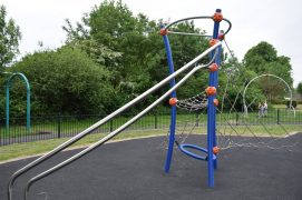How part of the new Grange Park play area looks