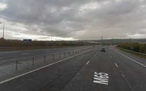 Section of the M65 where the crash took place Pic: Google