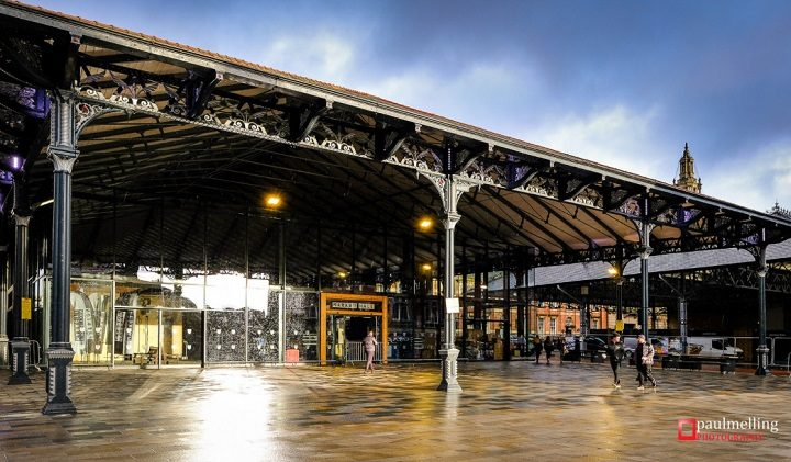 The new Market Hall in Preston under the Victorian Covered Market canopy Pic: Paul Melling
