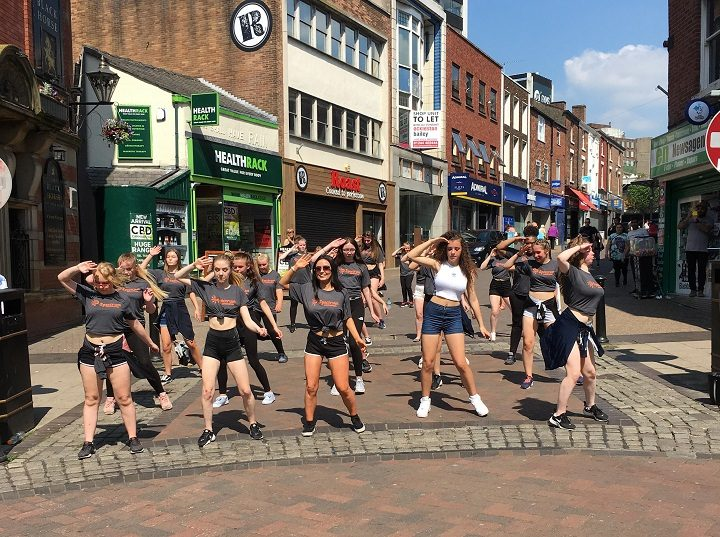 Spectrum performing in Orchard Street/Friargate Pic: Lisa Patterson