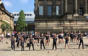Performing on the Flag Market in the Sunday sunshine Pic: Lisa Patterson
