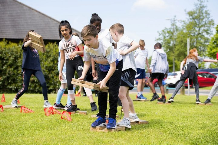 Pupils taking part in activities at the Preston Sports Arena