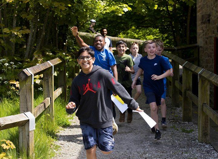Orienteering was one of the activities for the children