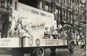 Frames parade at the Guild in 1952
