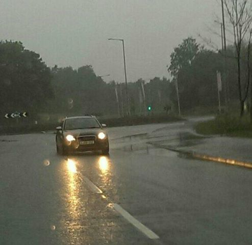 Surface water in Eastway on Friday evening Pic: Colin Sinnott