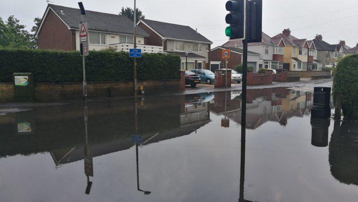 Flooding at Greaves Town Lane Pic: Benny Mc'Nally