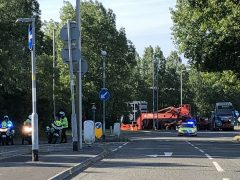 Police escort for the heavy load on Sunday (24 June) morning Pic: Lancashire Police Tactical Operations