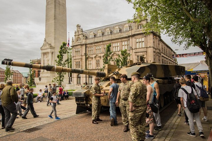 Armed Forces Day takes place on the Flag Market Pic: Gary Bond