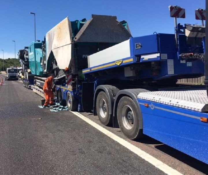 The vehicle is a considerable size Pic: Highways England