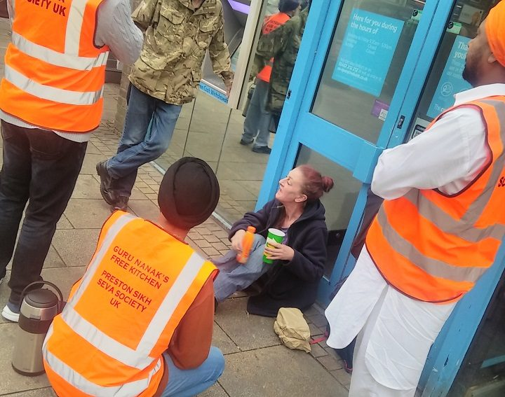 Preston's Sikhs doing the rounds in the city centre
