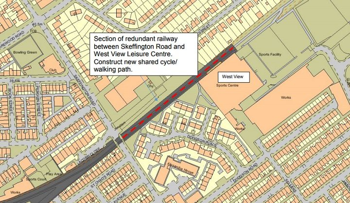 Map showing the proposed stretch of railway to be worked on Pic: Preston City Council