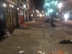 How Fishergate was left on Thursday evening Pic: No10 Preston