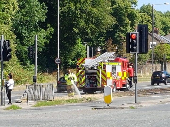 Fire crews in action in Ashton-on-Ribble Pic: Richard McCann