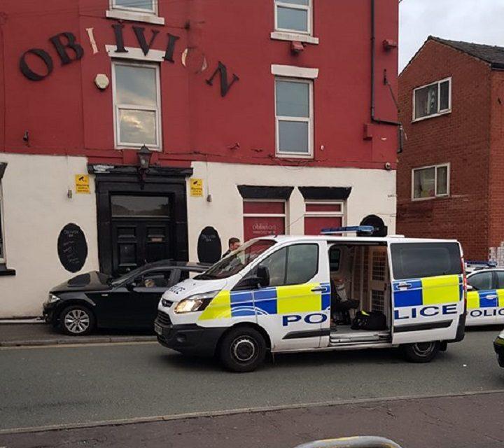 Police presence in Grimshaw Street