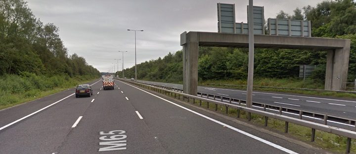 This stretch of the M65 was closed by police Pic: Google