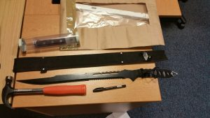 The weapons recovered by police Pic: Preston Police
