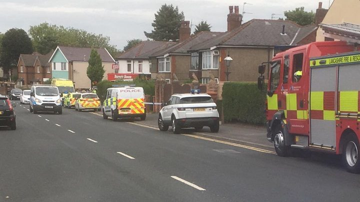 Emergency services presence in Ribbleton Avenue Pic: Stephen Melling