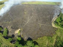 An aerial view of the Rivington Moor fire Pic: Lancashire Fire and Rescue Service