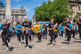 Spectrum dance troupe are one of the groups to perform on the Flag Market