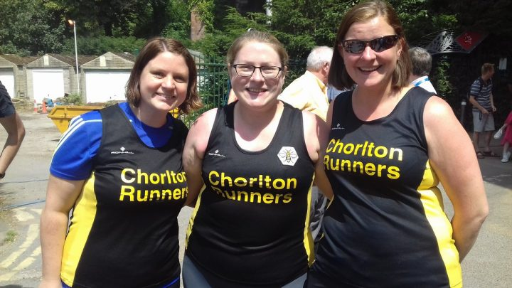 Sarah Stephenson, Claire Purcell and Helen Stevens from Chorlton Runners Pic: Blog Preston