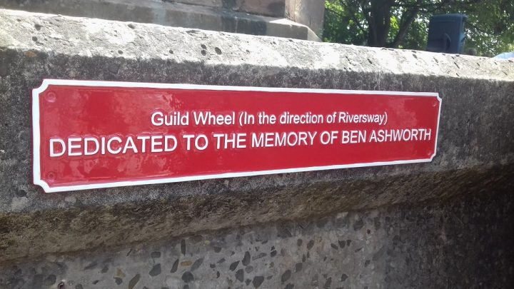 The plaque in memory of Ben Ashworth in Miller Park Pic: Blog Preston