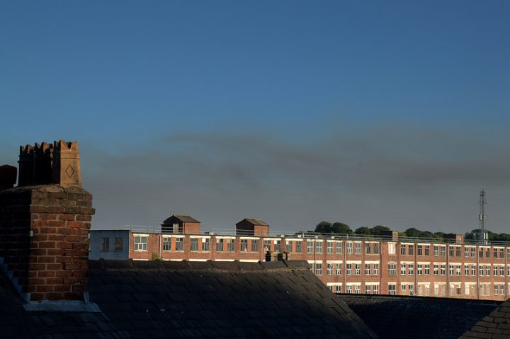 The smoke plumes could be clearly seen throughout Preston during Saturday Pic: Tony Worrall