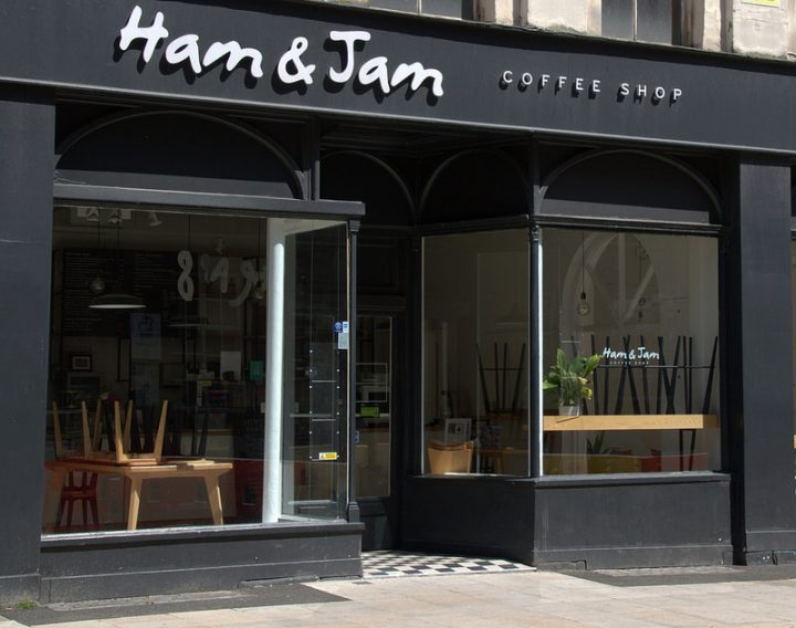 Ham and Jam coffee shop closed in Lancaster Road Pic: Tony Worrall