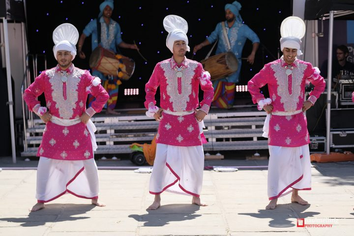 Dancers wore traditional South Asian costumes