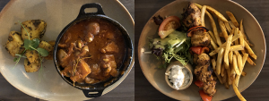 Olive Tree Brasserie Mains - Kolokythia Stifado and Kota