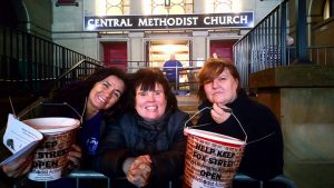 Volunteers at last year's Sleep Out for Fox Street