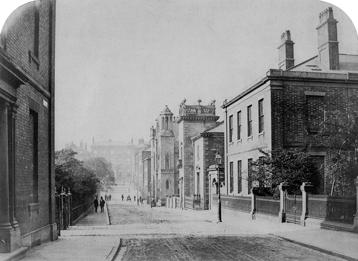 Winckley Square in 1863, on the western boundary looking south