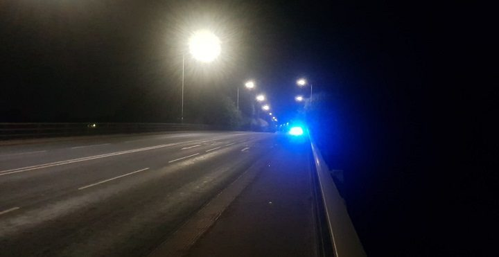 The A59 was closed off late on Saturday night