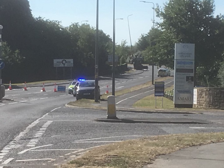 The scene in Bluebell Way on Sunday morning Pic: Stephen Melling