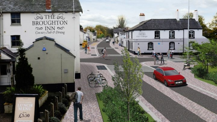 Broughton crossroads junction may look after the work Pic: LancsCityDeal