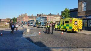 The scene in Fishergate Hill on Monday morning Pic: Paul Preston