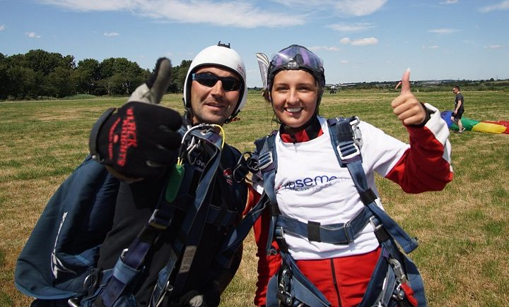 Elli after the skydive